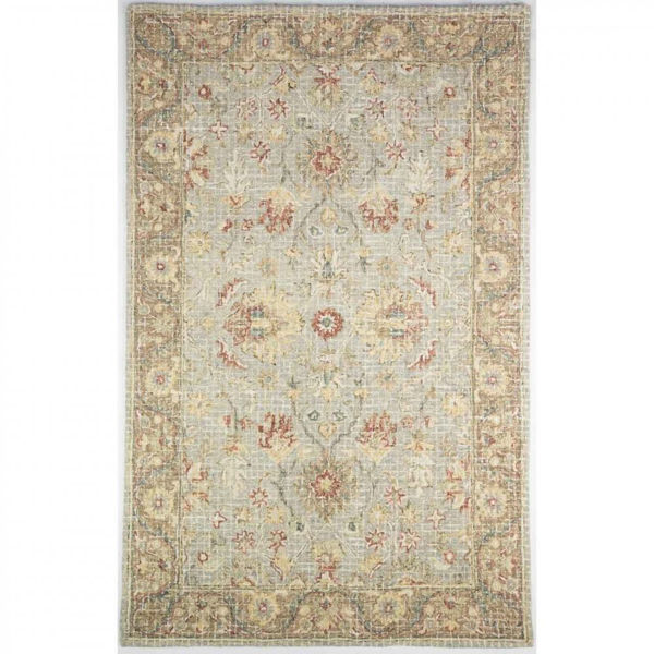 Picture of Multi-colored Tan, Brown and Olive Hand Tufted Wool Rug
