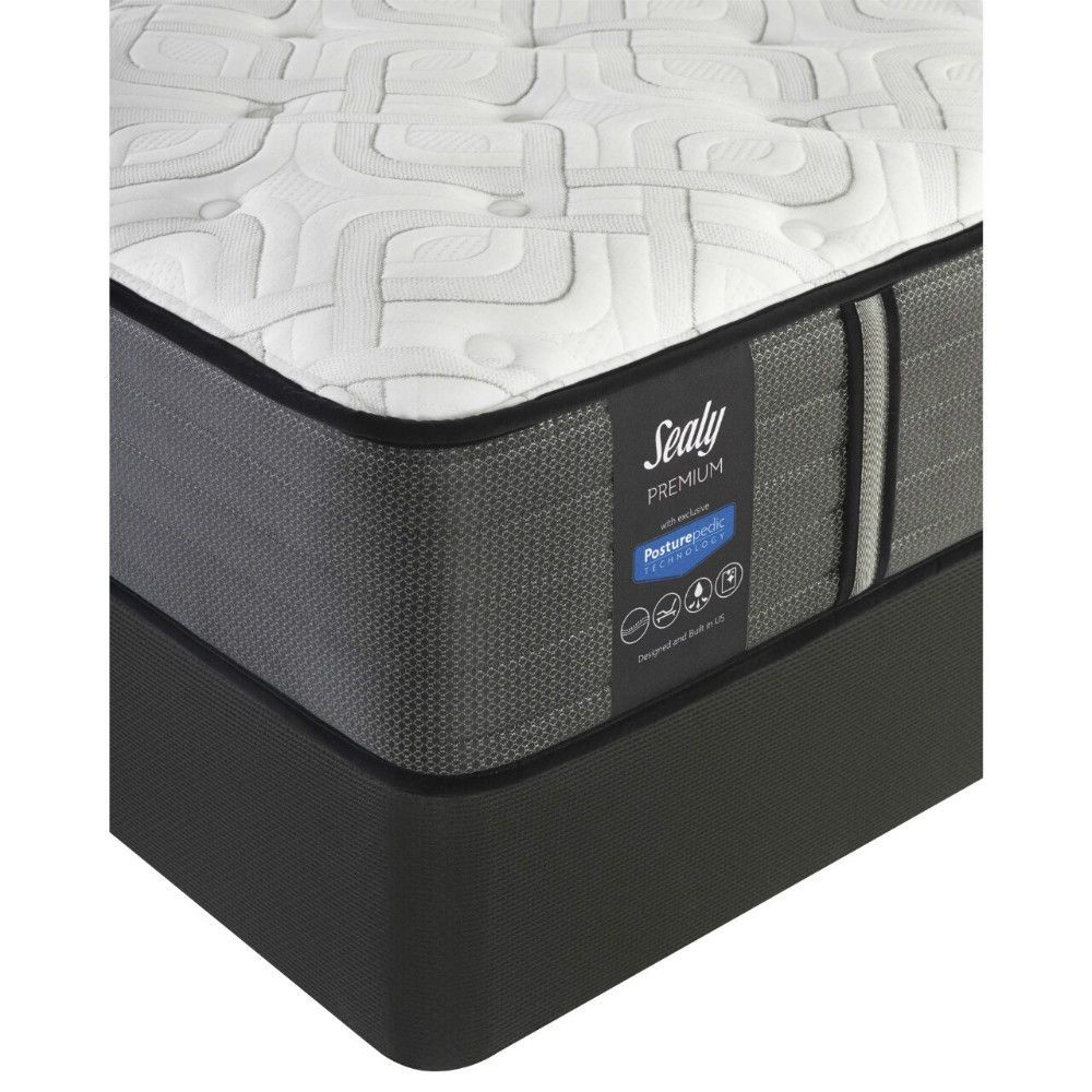 Pinon Mountain Cushion Firm Mattress and Foundation by Sealy - Corner Detail