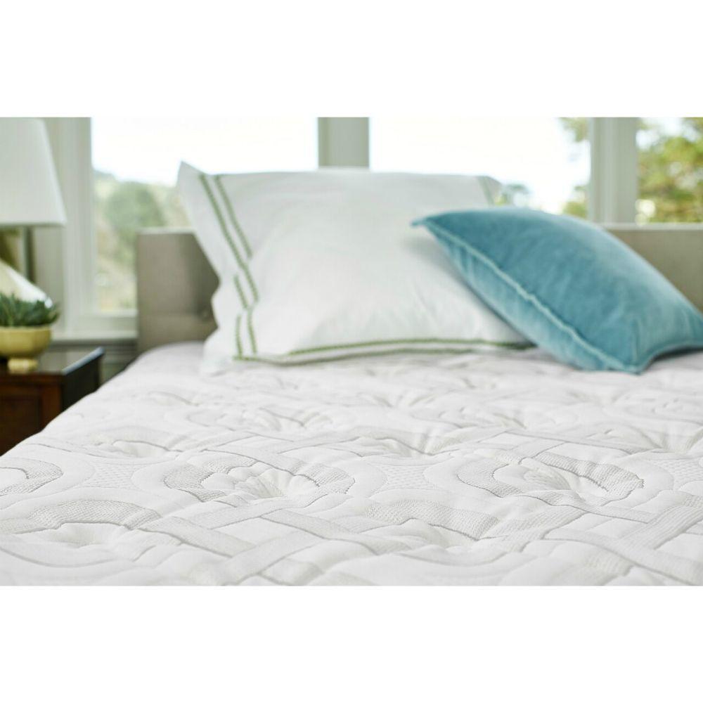 Pinon Mountain Plush Euro Pillowtop Mattress Sealy - Lifestyle - Fabric Detail