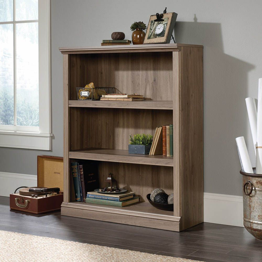 3-Shelf Bookcase - Salt Oak - Lifestyle