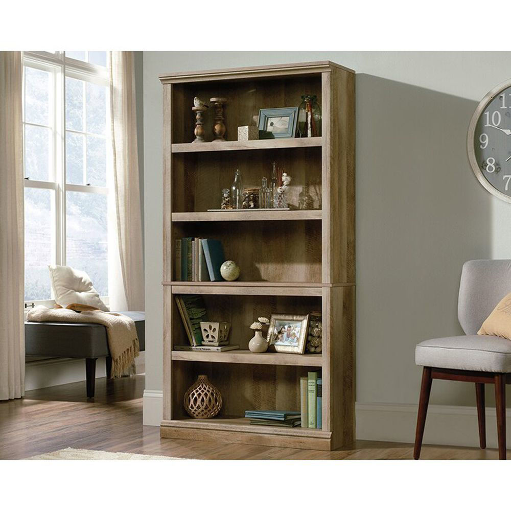 5-Shelf Bookcase - Lintel Oak - Lifestyle