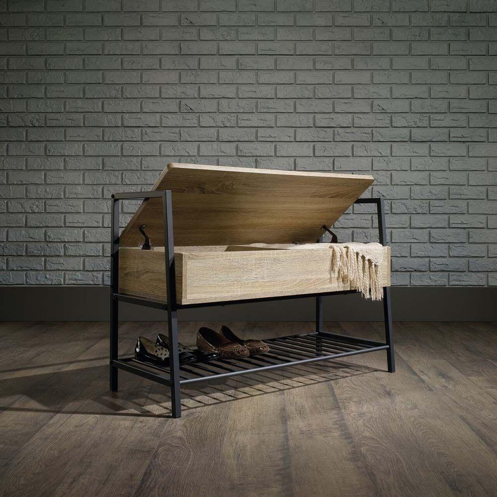 North Avenue Storage Bench - Charter Oak - Lifestyle Open