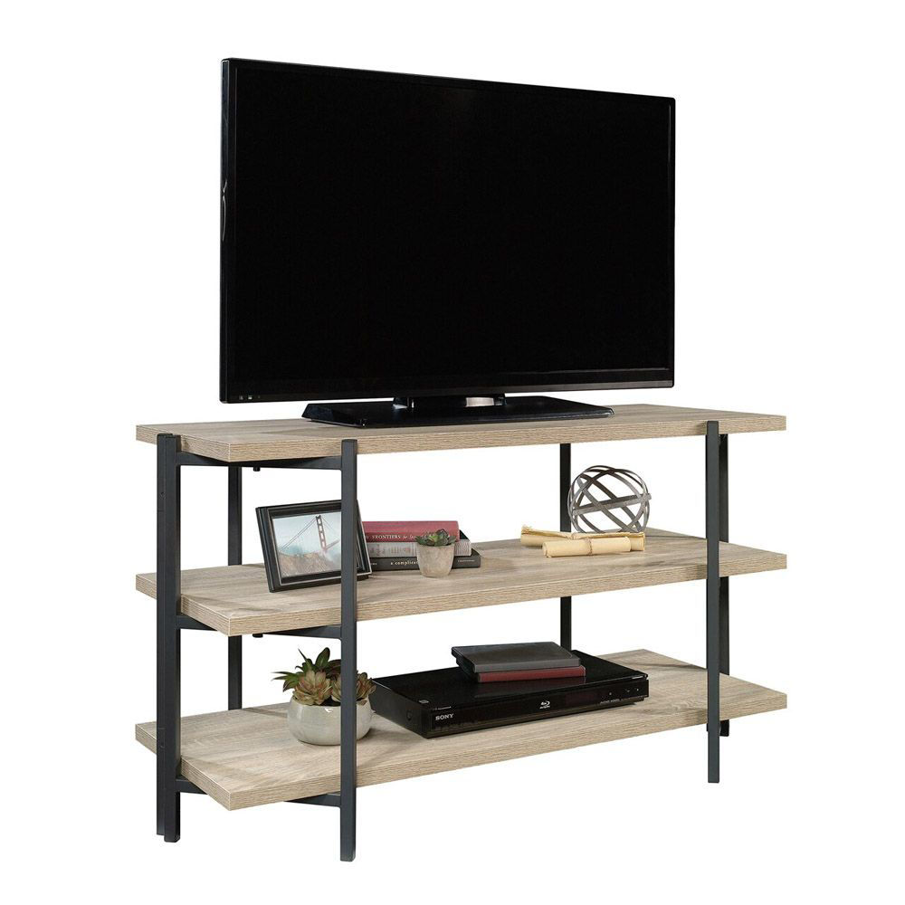 North Avenue Console - Charter Oak - Shown With TV And Accessories