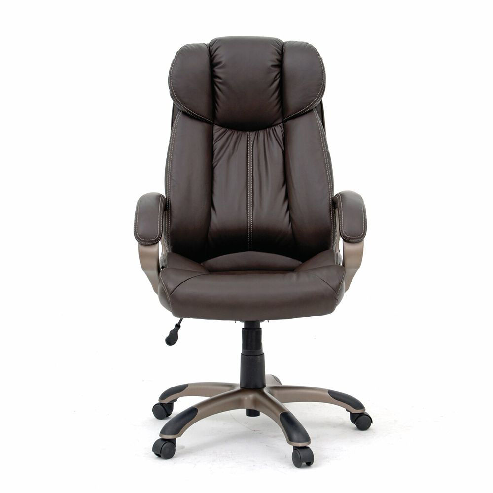 Executive Chair Leather - Brown - Head On View