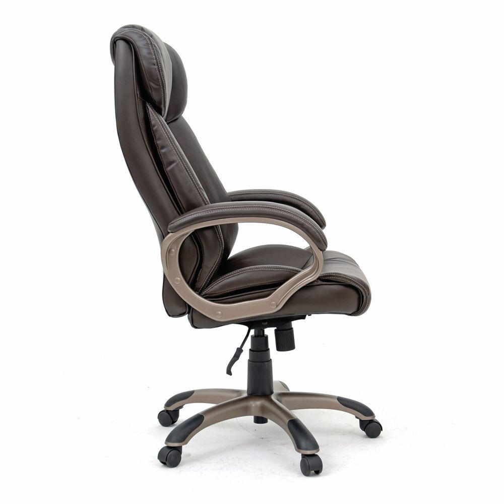 Executive Chair Leather - Brown - Side View