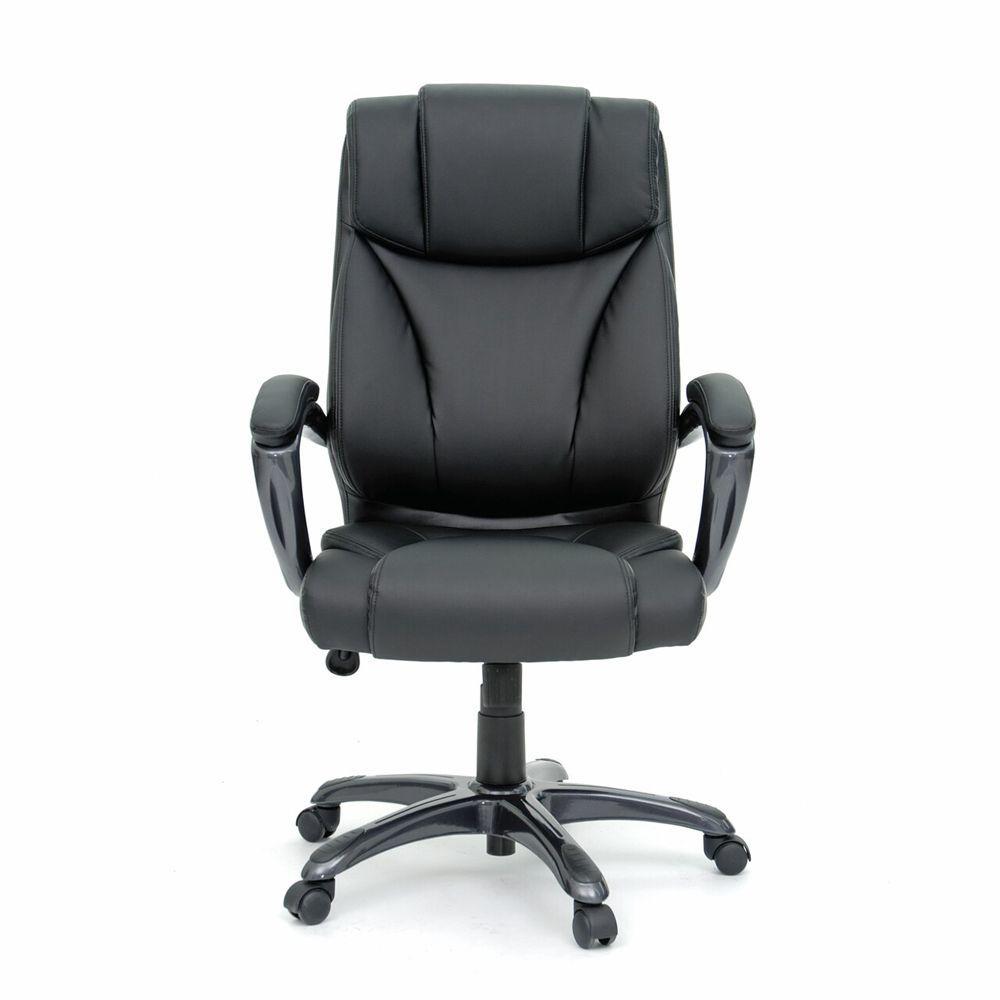 Executive Chair Leather - Black - Head On View