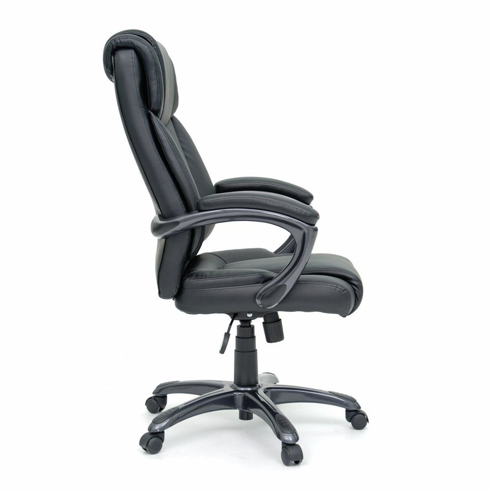 Executive Chair Leather - Black - Side View