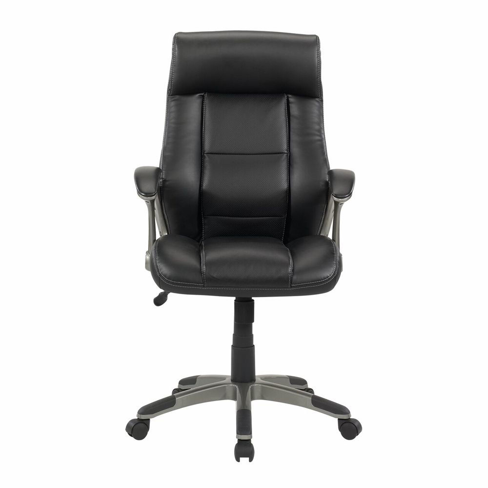 Senior Manager Chair Leather - Black - head On View