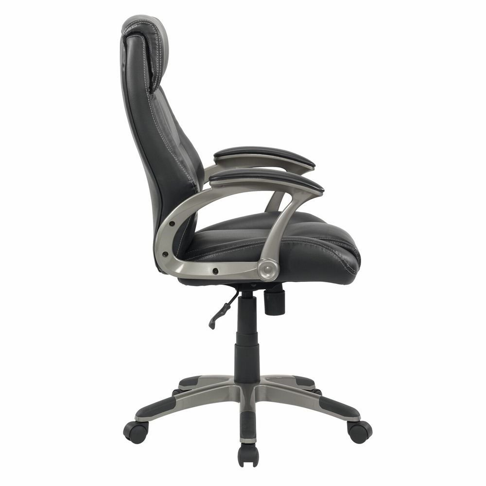 Senior Manager Chair Leather - Black - Side View