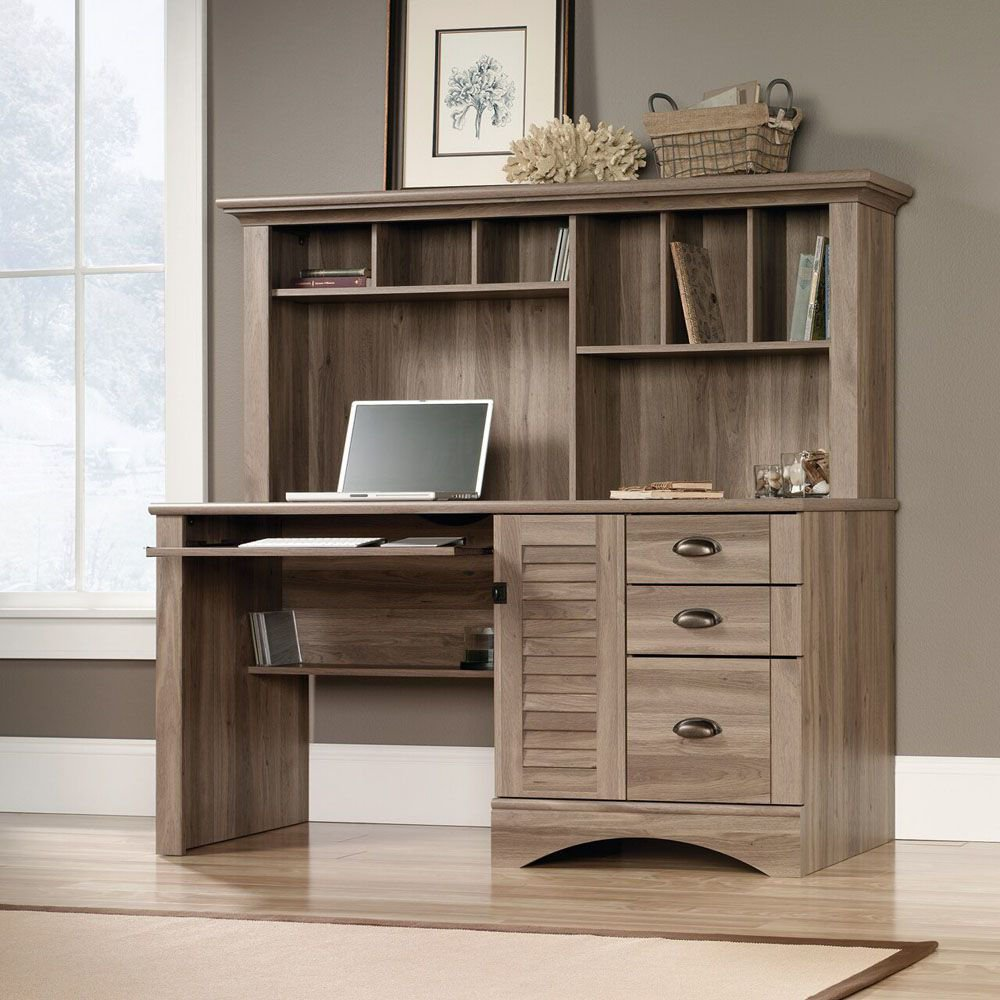 Harbor View Computer Desk With Hutch - Lifestyle
