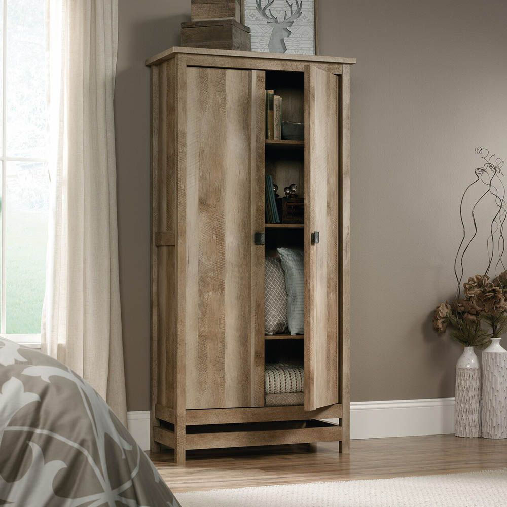 Cannery Bridge Storage Cabinet - Lintel Oak - Accessories Not Included