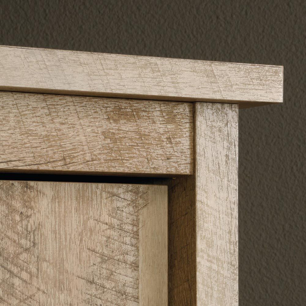 Cannery Bridge Storage Cabinet - Lintel Oak - Top Corner