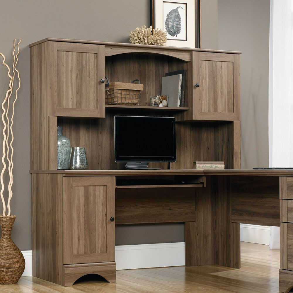 Harbor View Hutch - Salt Oak - Shown With Accessories Not Included - Lifestyle