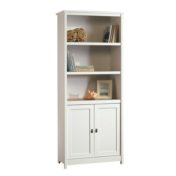 Cottage Road Library With Doors - Soft White - Accessories Not Included