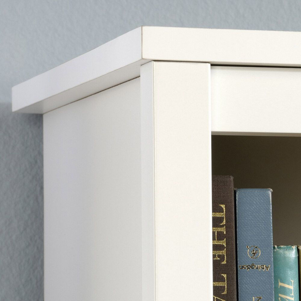 Cottage Road Library With Doors - Soft White - Accessories Not Included - Top Corner