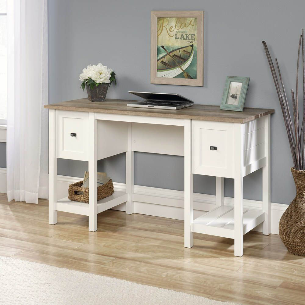 Cottage Road Desk - Soft White - Accessoires Not included - Lifestyle