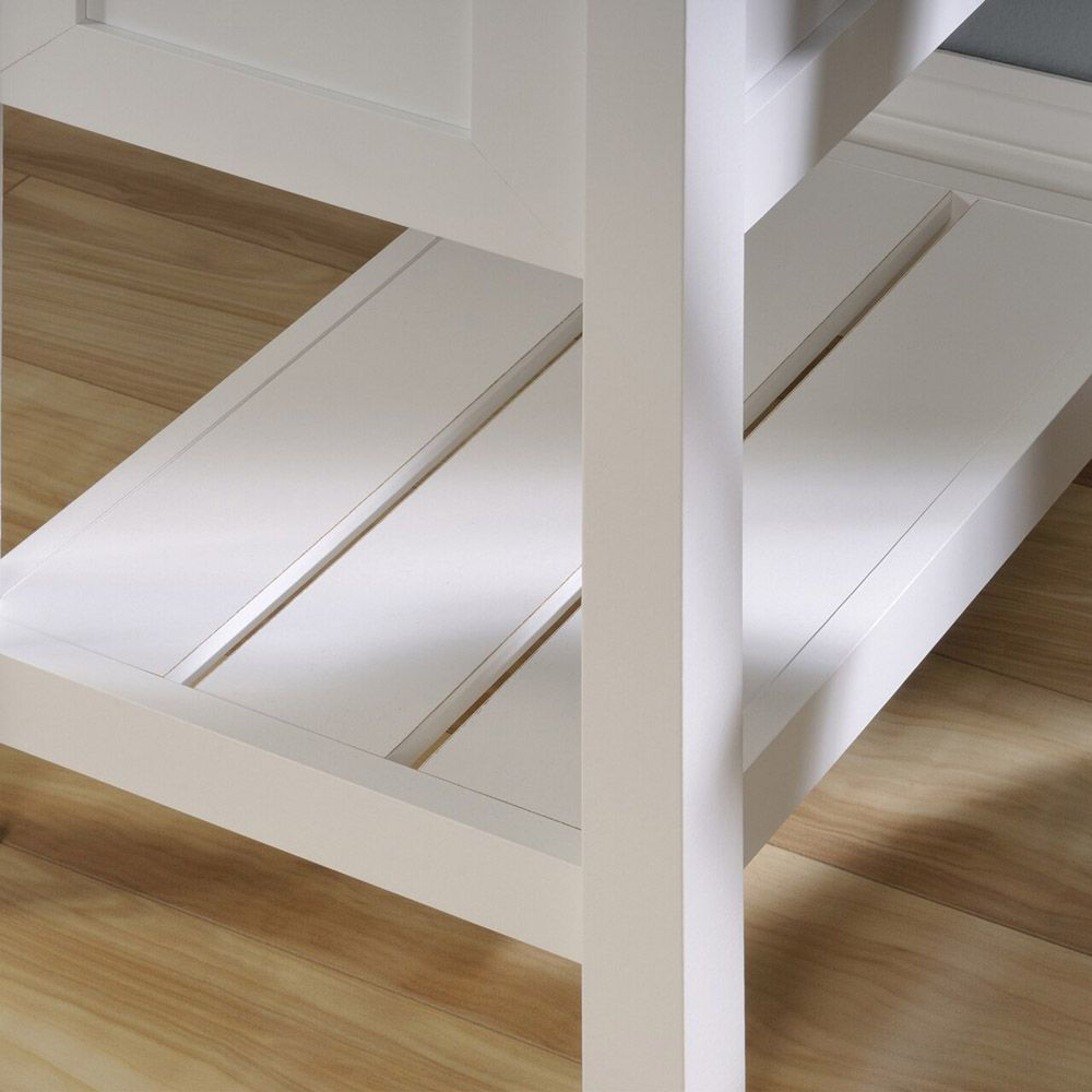 Cottage Road Desk - Soft White - Bottom Shelf