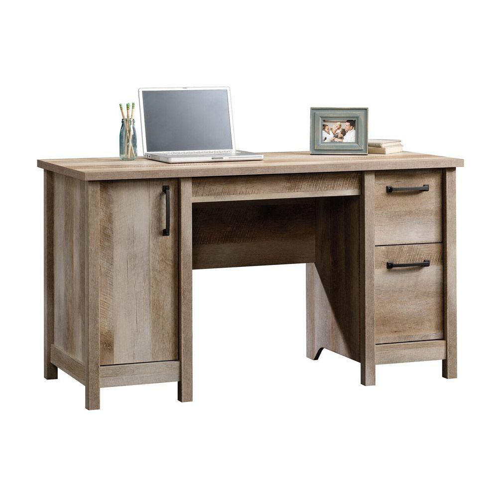 Cannery Bridge Computer Desk - Lintel Oak - Accessories Not Included