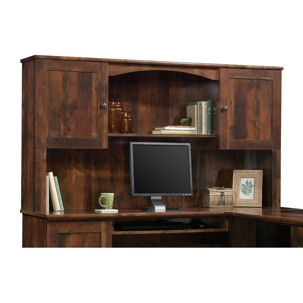 Harbor View Hutch - Cherry - Curado Cherry - Shown With Accessories Sold Separately