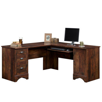 Harbor View Corner Computer Desk - Curado Cherry