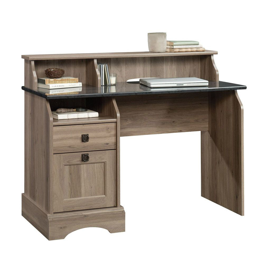 Graham Hill Desk - Salt Oak - Shown With Accessories Not Included