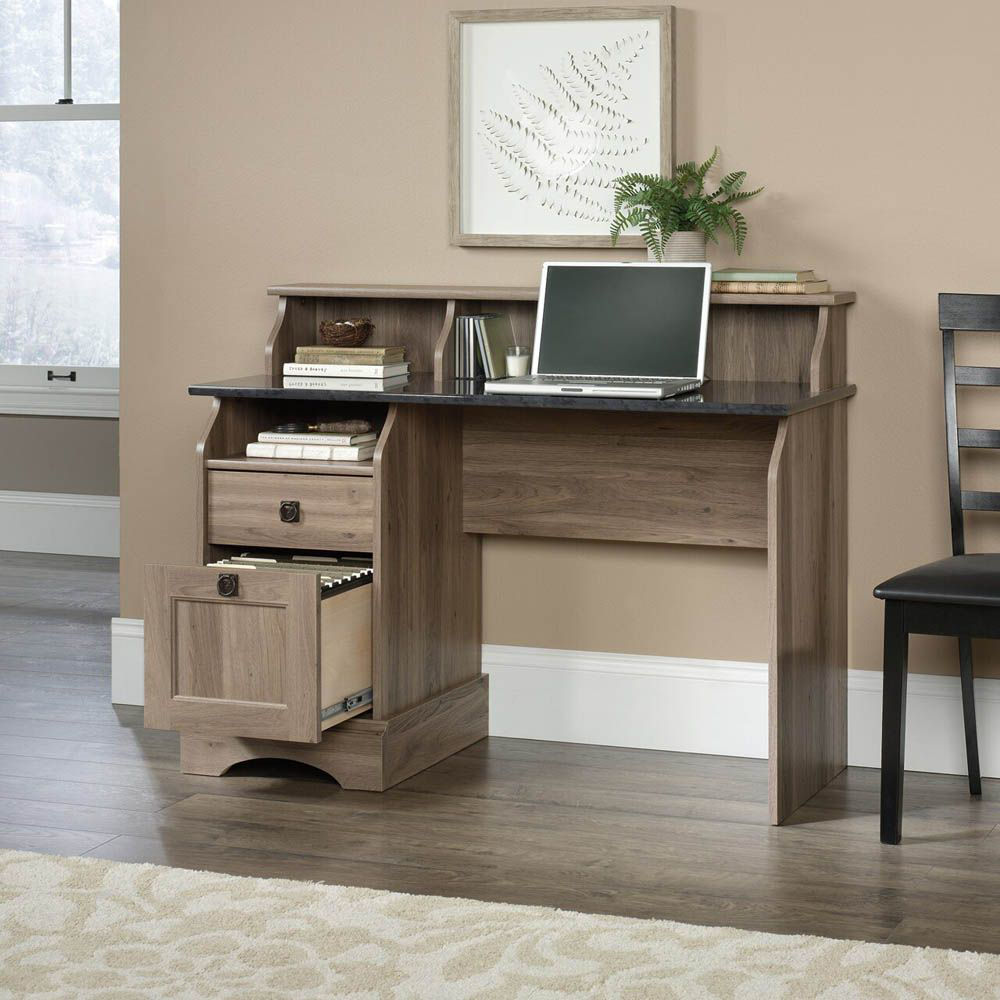 Graham Hill Desk - Salt Oak - Shown With Accessories Not Included - Lifestyle