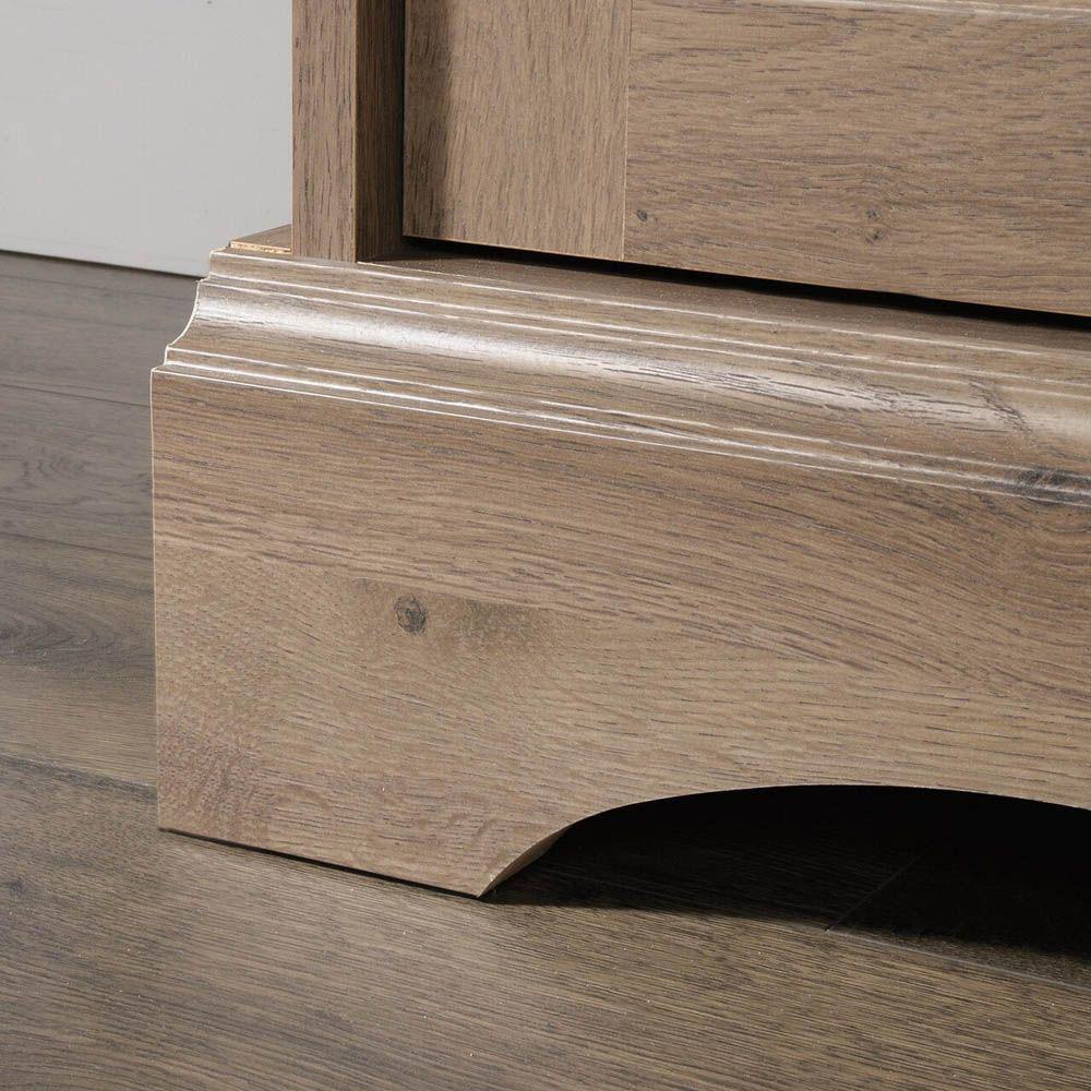Graham Hill Desk - Salt Oak - Bottom Corner