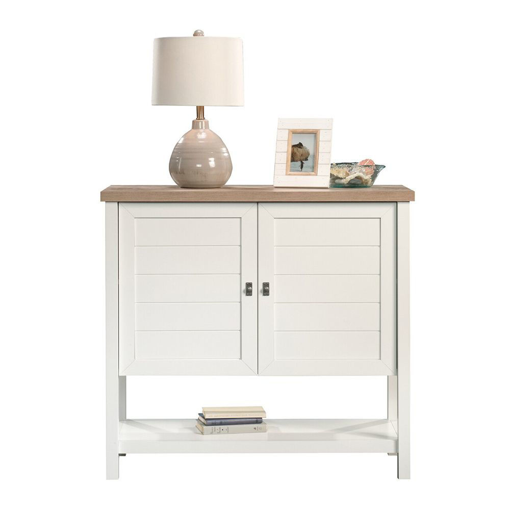 Cottage Road Storage Cabinet - Soft White - Accessories Not Included