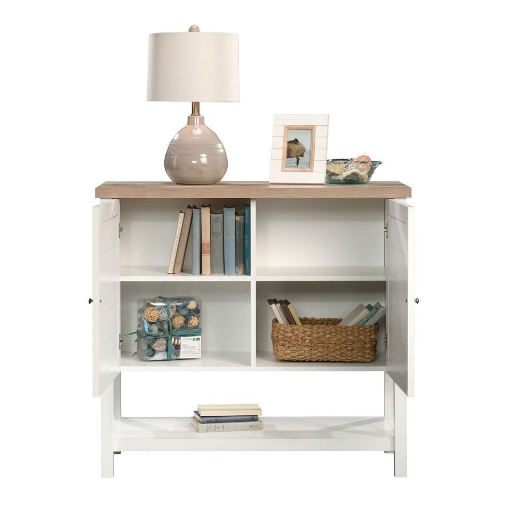 Cottage Road Storage Cabinet - Soft White - Accessories Not Included - Open