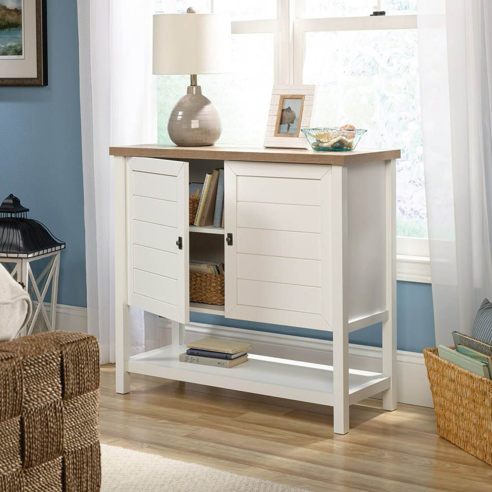 Cottage Road Storage Cabinet - Soft White - Accessories Not Included - Open - Lifestyle