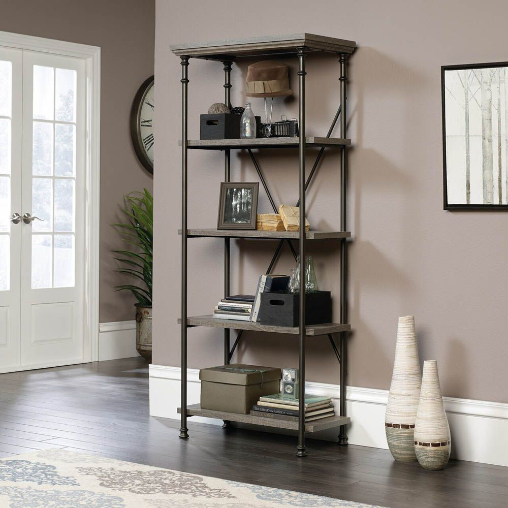 Canal Street 5-Shelf Bookcase - Northern Oak - Accessories Not Included - Lifestyle