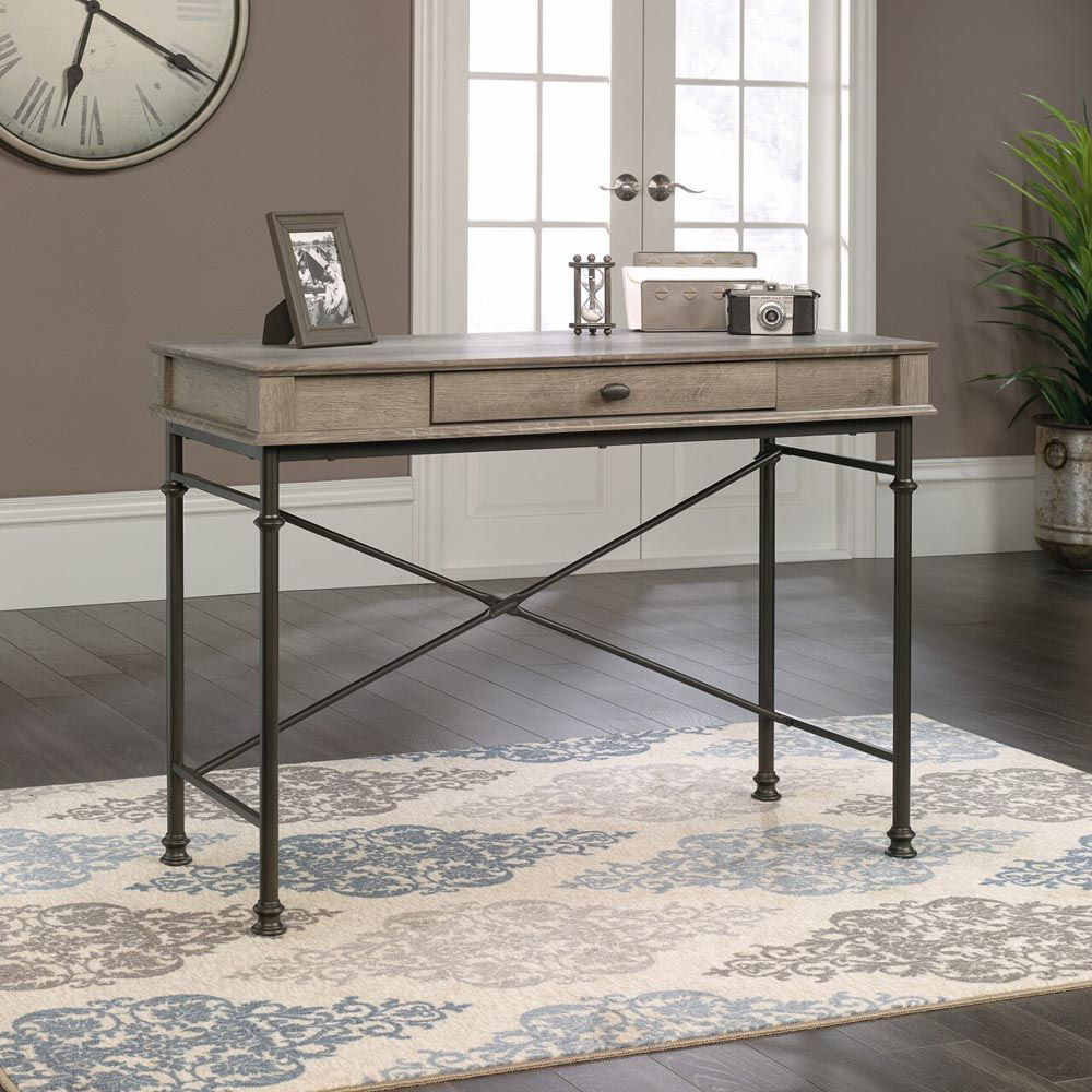 Canal Street Console Desk - Northern Oak - Accessories Not Included - Lifestyle