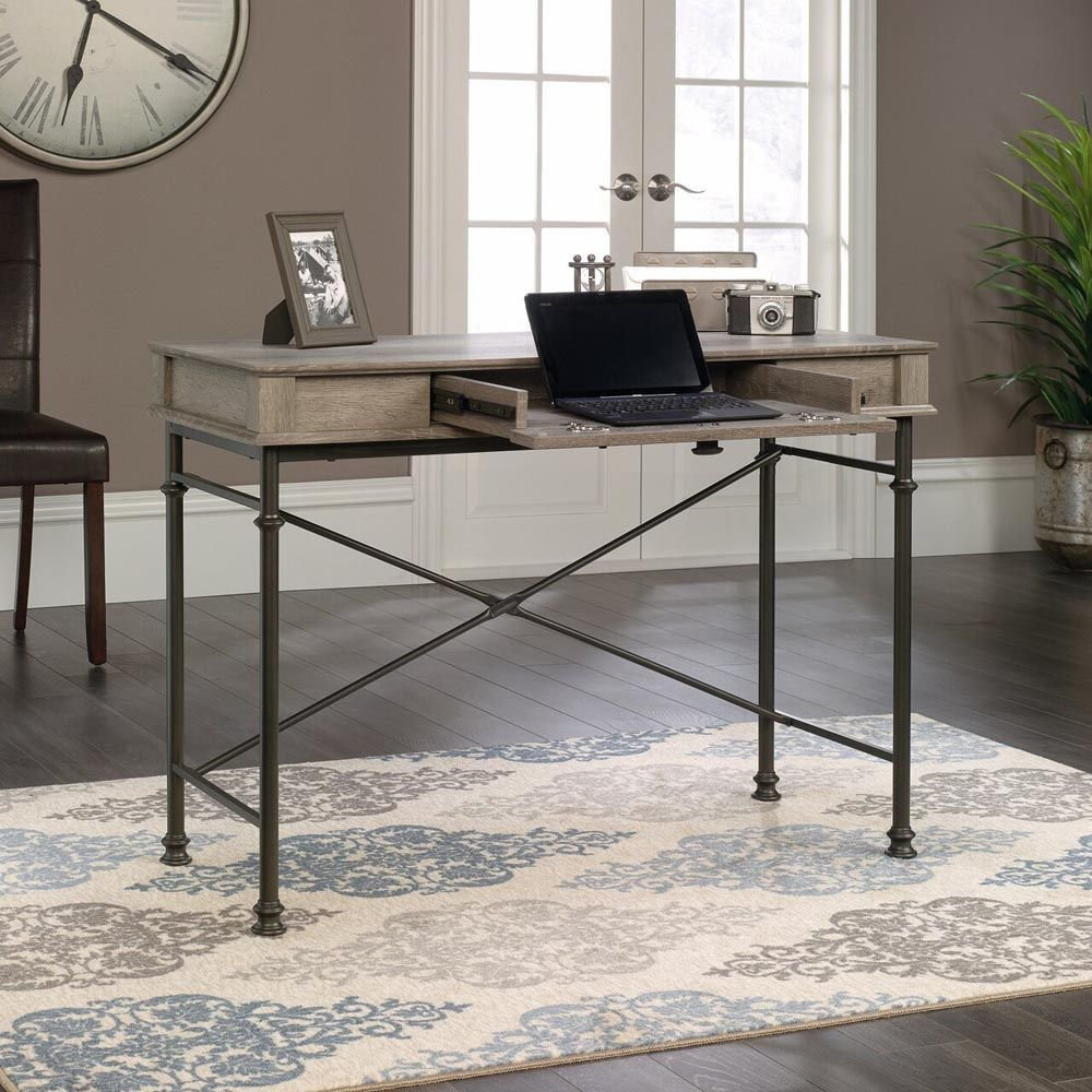 Canal Street Console Desk - Northern Oak - Accessories Not Included - Lifestyle Open