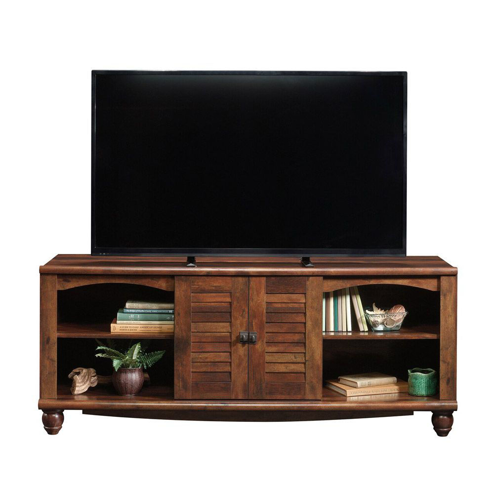 Harbor View Entertainment Credenza - Curado Cherry - Head On View