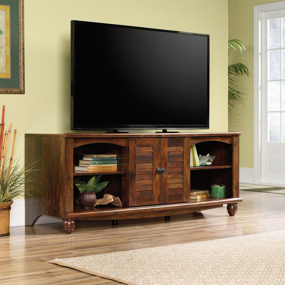 Harbor View Entertainment Credenza - Curado Cherry - Lifestyle