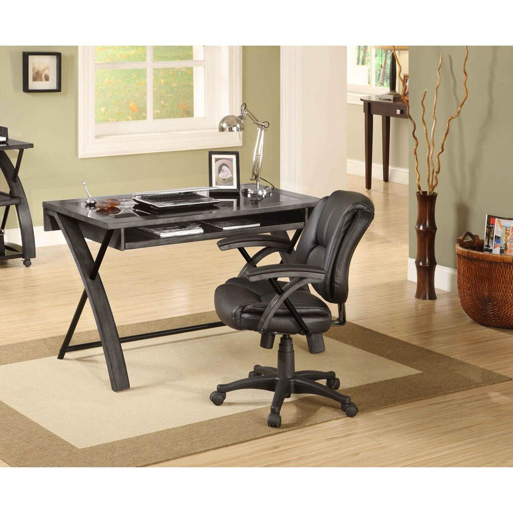 Apollo Gray Computer Desk - Accessories and Chair Not Included