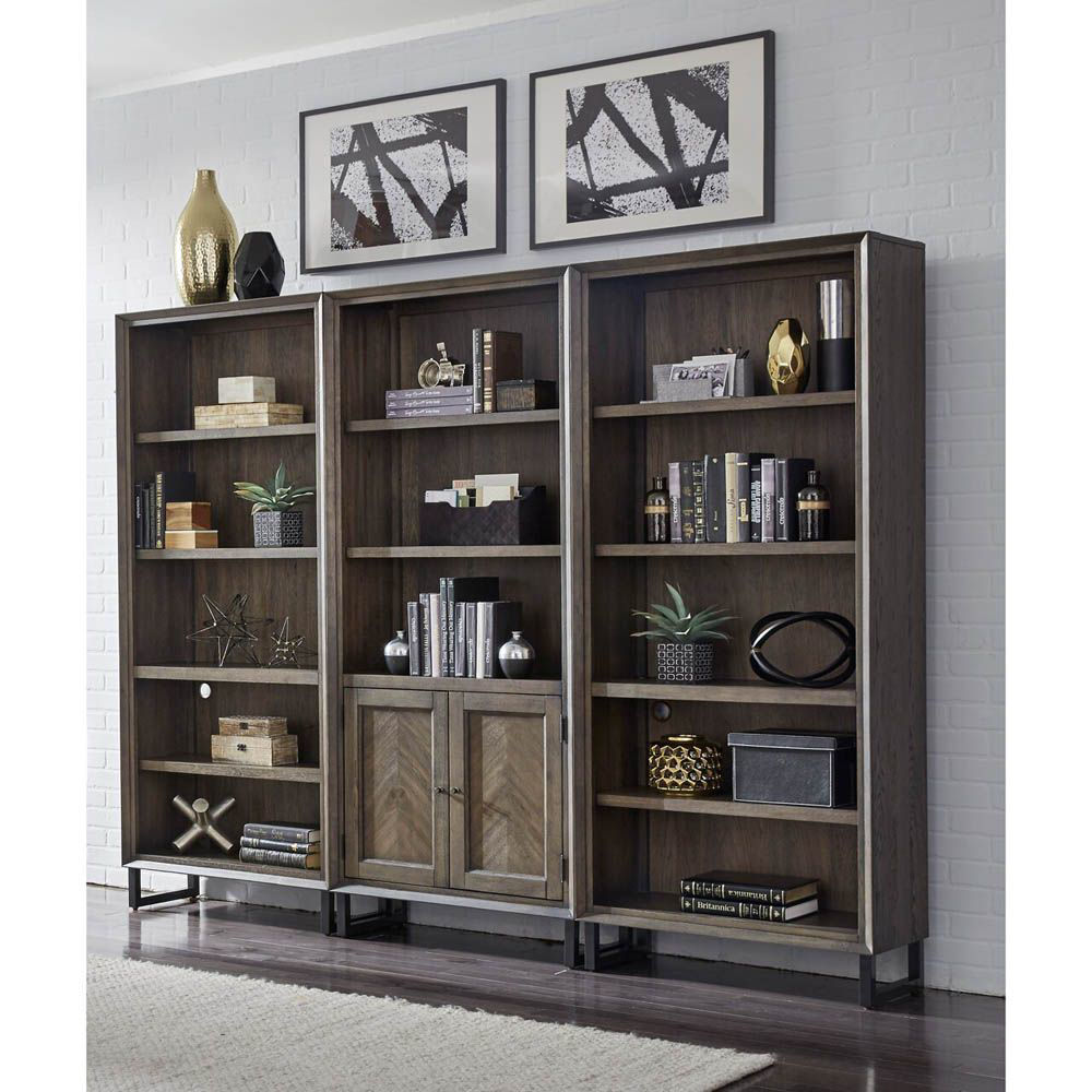 Soho Door Bookcase - Fossil - Each Bookshelf And Door Bookshelf Sold Separately - Lifestyle