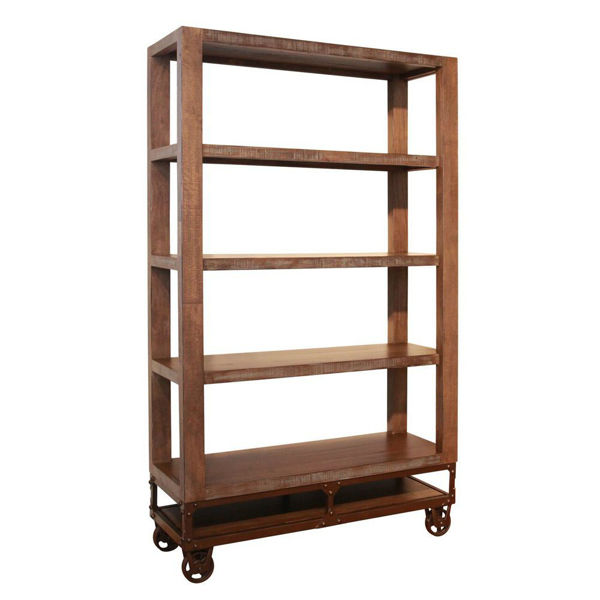 "Picture of Urban Gold 70"" Bookcase with Casters"