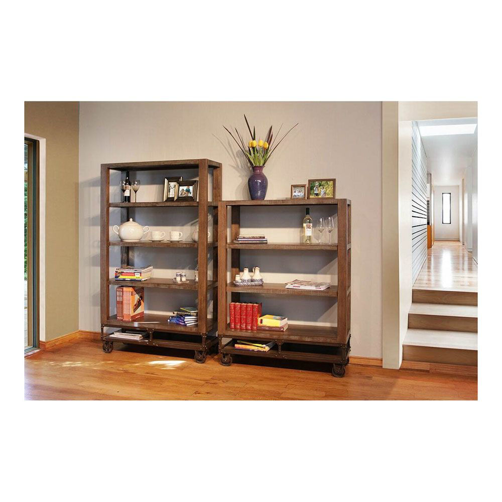"Urban Gold 70"" Bookcase with Casters - Accessories Not Included - Each Bookcase Sold Separately"