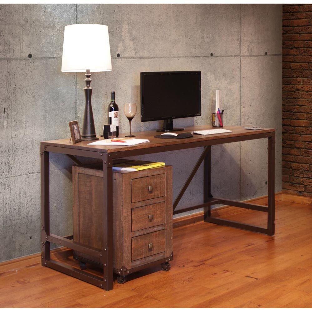 Industrial Writing Desk - Accessories Not included - Lifestyle