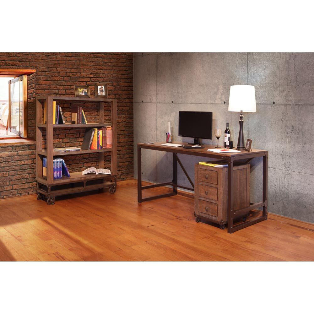 Industrial Writing Desk - Accessories Not included - Lifestyle Alternate View