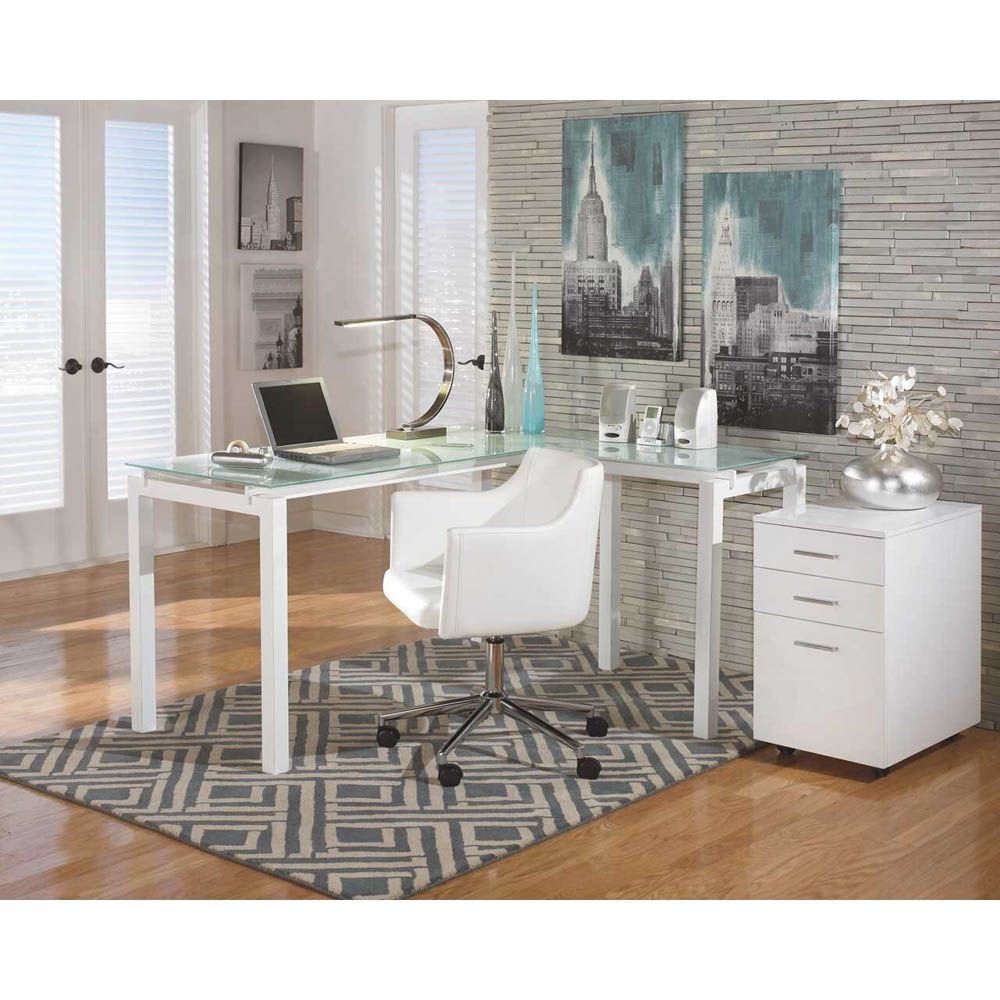 Taylor 3-Piece Office Set - White