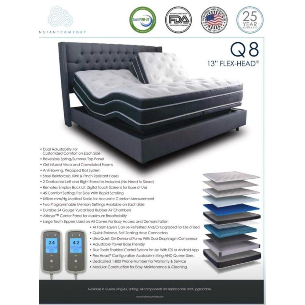 Ultra-Plush Comfort Q8 Adjustable Air Mattress - Information