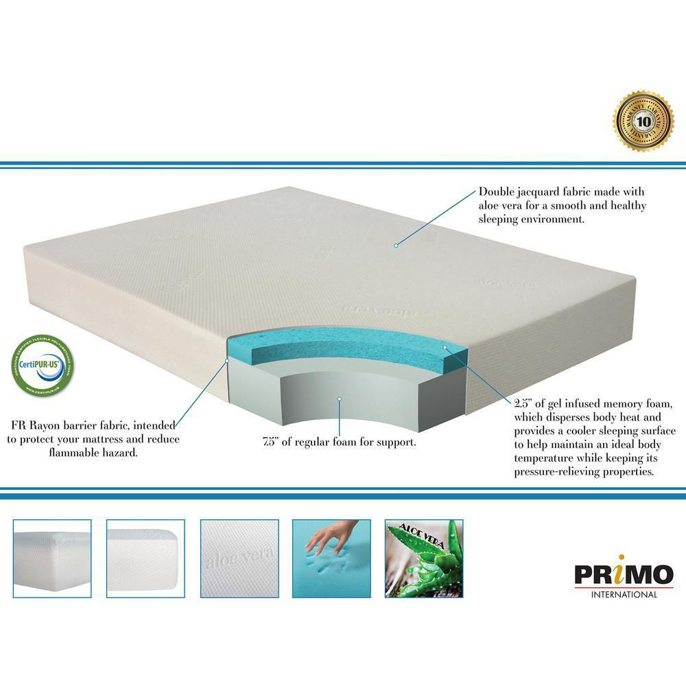 "Luna Plush 6"" Youth Gel Foam Mattress - Detail"