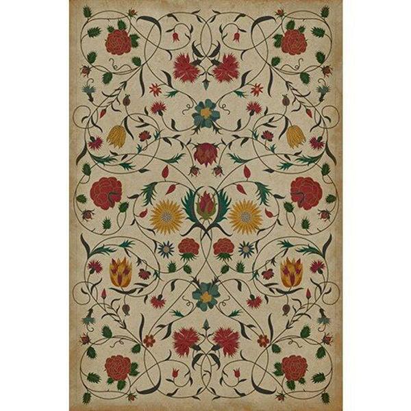 Floral Abigail - Vinyl Floorcloth