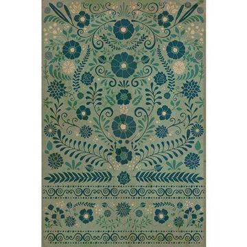 A Few Flowers At His Feet - Vinyl Floorcloth