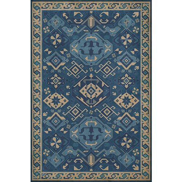 Picture of Williamsurg Indigo Traditional - Vinyl Floorcloth