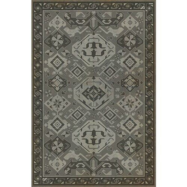 Picture of Williamsurg Poppy Seed Traditional - Vinyl Floorcloth