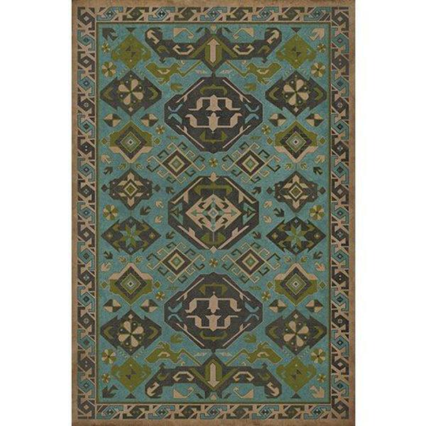 Stone Blue - Vinyl Floorcloth
