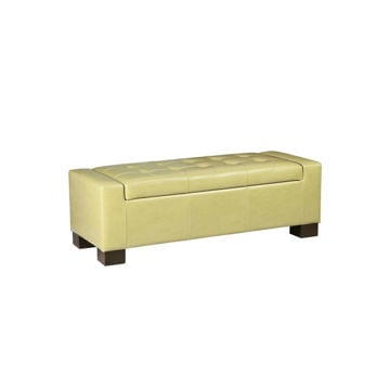 Serre Tufted Storage Bench - Green
